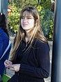 Young Woman at Bus Stop - Santa Felicidade - Near Curitiba - Brazil.jpg