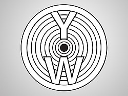 "The letters ""Y"" and ""W"" in concentric circles"