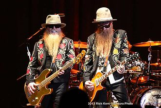 ZZ Top - ZZ Top at the Alamodome in San Antonio, Texas, 12/7/13, private function not open to public