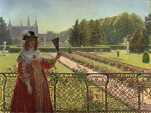 Kristian Zahrtmann - Kristian Zahrtmann: Leonora Christina in the garden of Frederiksborg Palace, 1887