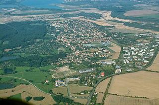 Zwenkau Town in Leipzig district, Saxony, Germany