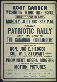 Grand Patriotic Rally with Pipe band of The Canadian Highlanders