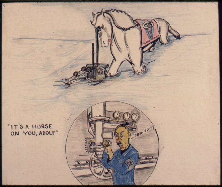 "File:""It's a horse on you, Adolf"" - NARA - 534815.tiff"