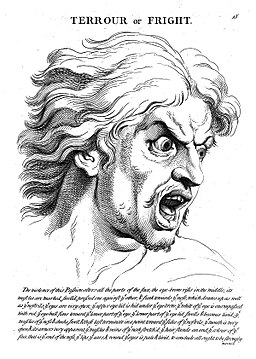 """Terrour with fright"" from le Brun, Wellcome L0010189"
