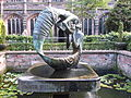 """The Water of Life"" sculpture in Chester Cathedral cloister garth (11).JPG"