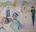 'Summer on Karl Johan Street, Oslo' by Edvard Munch, 1933.JPG