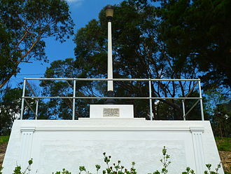 1813 crossing of the Blue Mountains - Memorial at Lawson, New South Wales