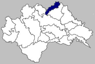 Velika Ludina - Image of Velika Ludina municipality within Sisak-Moslavina County