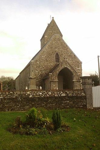 Belval, Manche - The church of Saint-Martin