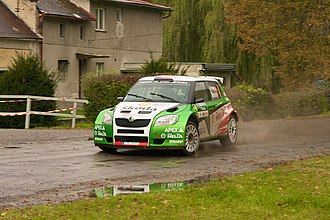 Jan Kopecký - Kopecký at the 2009 Rally Bohemia.