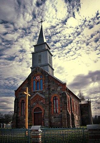Religion in Belarus - Catholic Church of the Sacred Heart of Jesus in Iĺja.