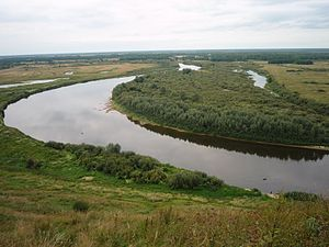 Vyaznikovsky District - The Klyazma River near the town of Vyazniki
