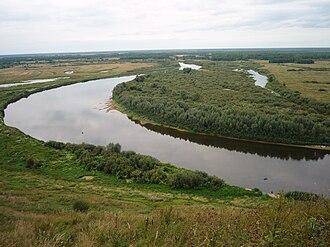 Vyaznikovsky District - The Klyazma River near the town of Vyazniki