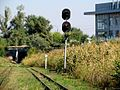Сolour light signal near tunnel, Zaporizhzhya children railway.jpg
