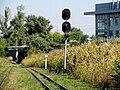 Сolour light signal near tunnel, Zaporizhzhya children railway.jpg
