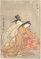 The Poet Ariwara no Narihira (825–880) and Ono no Komachi