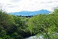 赤生津橋から望む泉ヶ岳 Mt. Izumi-gatake from Akouzu Bridge - panoramio.jpg