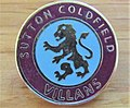 -2019-08-15 Enamel Aston Villa football badge, Sutton Colfield supporters.JPG