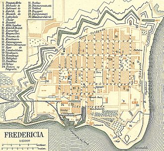 Planned community - Plan of Fredericia (Denmark) in 1900 – the city was founded in 1650