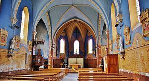 La Chabanne - The interior of the church in La Chabanne