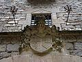 028 Castell de Santa Florentina (Canet de Mar), façana sud, escut nobiliari.JPG