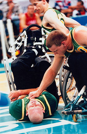 Troy Sachs - Sachs in the gold medal game against Great Britain at the 1996 Atlanta Paralympics