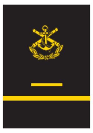 Finnish military ranks - Image: 1. vuosikurssin merikadetin hiha arvomerkki