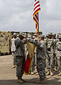 101st STB headquarters cases unit colors in Liberia 150126-A-KO462-137.jpg