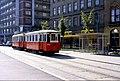 109L02240983 Strassenbahn, Franz Josefs Kai - Salztorgasse, Blick Richtung Schwedenplatz, Sonderfahrt, Typ M 4151, Typ m2 5208.jpg