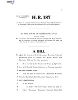 116th United States Congress H. R. 0000187 (1st session) - Kennesaw Mountain National Battlefield Park Boundary Adjustment Act.pdf