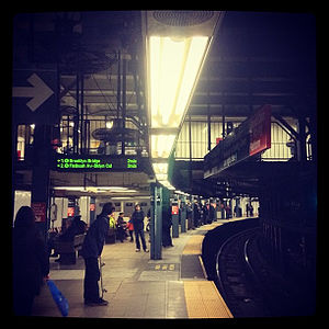 Platform gap - The severe concave platform curvature at 14th Street–Union Square requires gap fillers at regular intervals