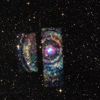 Neutron star - Circinus X-1: X-ray light rings from a binary neutron star (24 June 2015; Chandra X-ray Observatory)