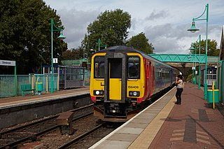 Shirebrook railway station Railway station in Derbyshire, England