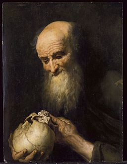 17th-century Netherlandish artist - Democritus with a skull