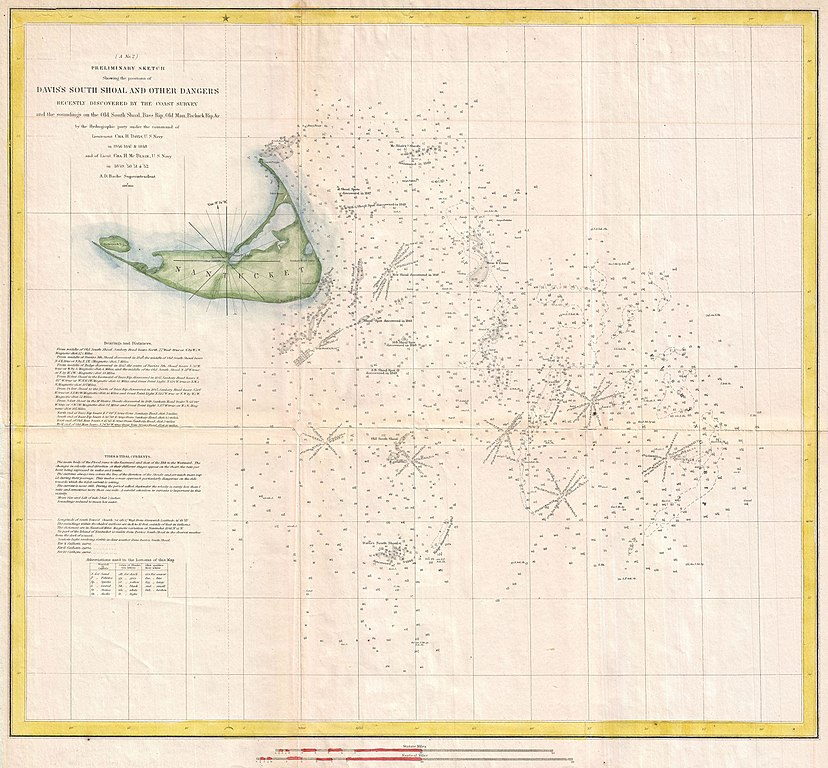 File US Coast Survey Nautical Chart Or Map Of Nantucket - Map of the us in 1853