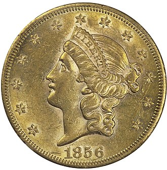 Gold dollar - The head of Liberty on the Type 1 dollar resembles that on Longacre's Liberty Head double eagle.