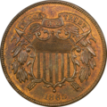 An 1864 two-cent coin