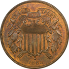 Two-cent piece first issued in 1864