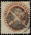 1865ca 12c red-brown Newfoundland mute Yv24 Mi19 SG28.jpg