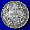 1871 Medal by Chaplain, Mother with 2 Children during the Siege of Paris 1870-1871, reverse.jpg