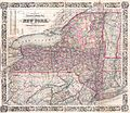 1876 Colton Railroad Pocket Map of New York State - Geographicus - NewYorkPM-colton-1876.jpg