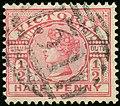 1887ca half Victoria oval31 Yv95 Mi100a rosa SG311.jpg