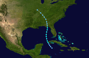 1901 Atlantic hurricane season - Image: 1901 Atlantic tropical storm 1 track