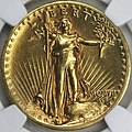 1907 Saint-Gaudens double eagle high relief obverse.jpg