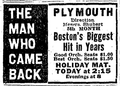 1918 Plymouth theatre BostonGlobe 19April.png