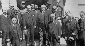 Ion I. C. Brătianu - Brătianu's final cabinet upon being sworn in