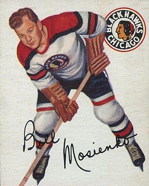 Bill Mosienko - Image: 1954 Topps Bill Mosienko