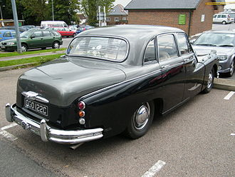 Daimler Majestic Major - Rear view, showing a Majestic Major's boot, which was larger/longer than its Majestic counterpart