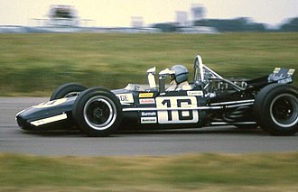 Frank Williams Racing Cars - Piers Courage in a Williams entered Brabham BT26A at the 1969 British Grand Prix.