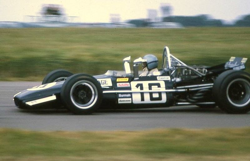 1969 British Grand Prix P Courage Brabham BT26 close
